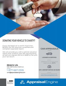 Appraisal Services for Donated Vehicles